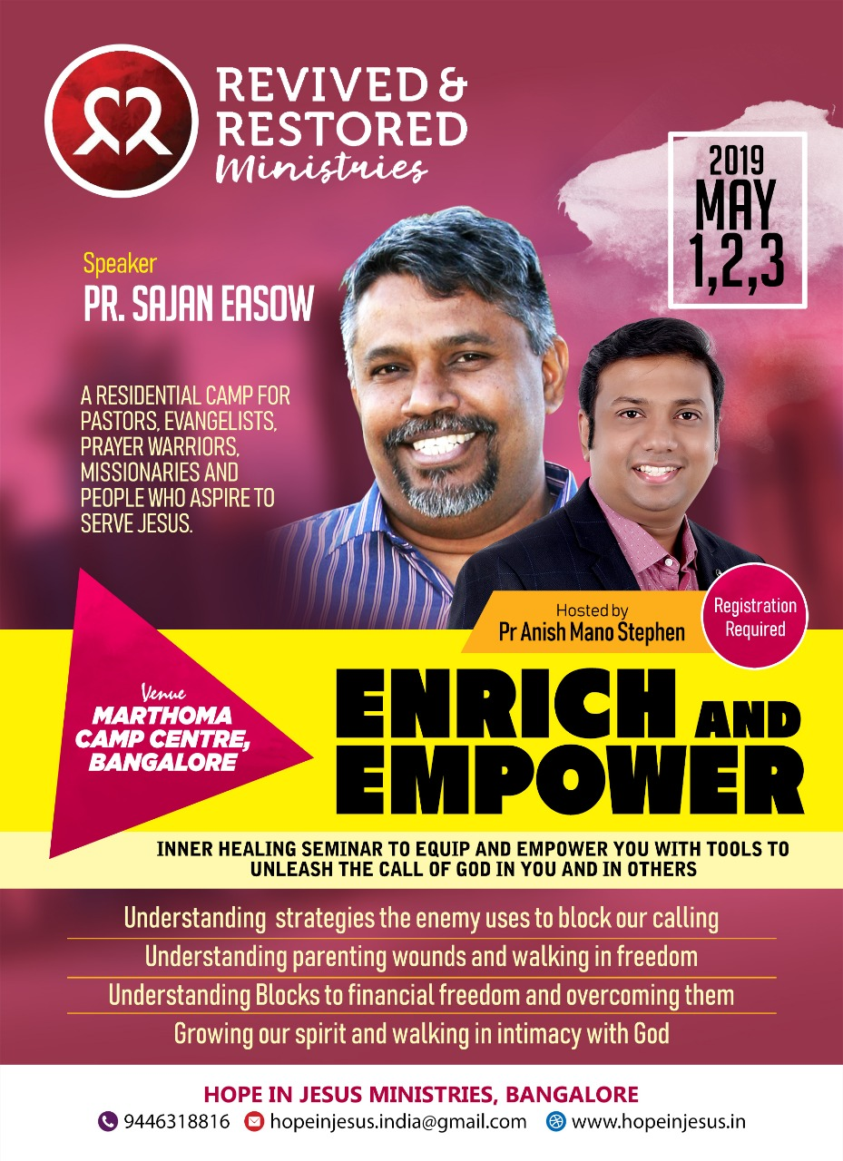 Enrich and Empower 2019, Bangalore